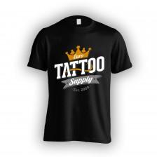 Černé pánské tričko s logem E.T.S.