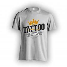 Šedé pánské tričko s logem E.T.S.
