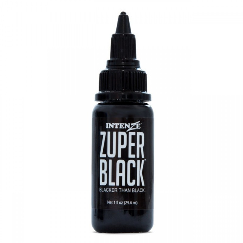 Intenze ink zuper black for Zuper black tattoo ink intenze
