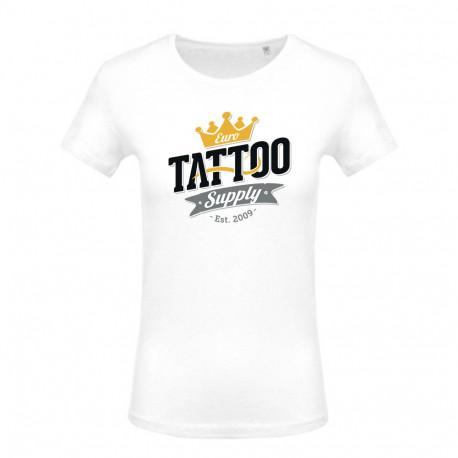 Women's T-shirt with E. T. S. Logo Black - XS