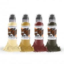 World Famous Ink - Marks Kornev - Blood Color set (4x 1 oz)