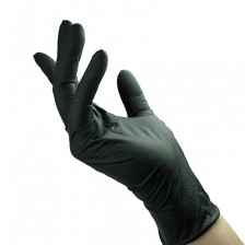 Unigloves - Select Black - Black Latex Gloves M 10ks