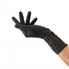 Unigloves - Select Black - Black Latex Gloves M (300 mm)