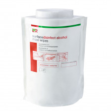 L+R - Alcohol impregnated maxi wipes (38x 20 cm) 110 pcs
