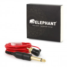 Elephant - RCA cable pink (angled)