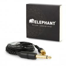 Elephant - RCA cable black (angled)
