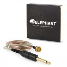 Elephant - RCA cable transparent (angled)