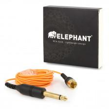 Elephant - RCA cable orange (angled)
