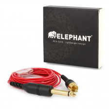 Elephant - RCA cable red (angled)