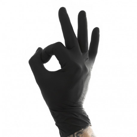 Medi-Inn - Black Grip Latex Gloves M