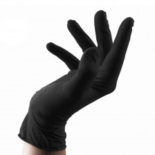 Unigloves - Black Latex Gloves M 4ks
