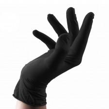 Unigloves - Black Latex Gloves L 4 pcs