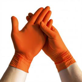 Espeon - Orange nitrile gloves Extra Strong L