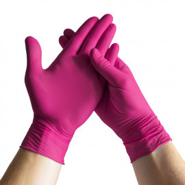 Espeon - Pink nitrile gloves Ideal S